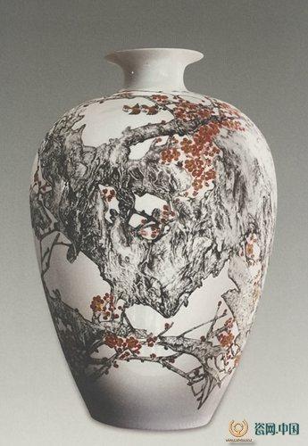中国陶瓷艺术大师董善习刻瓷艺术欣赏